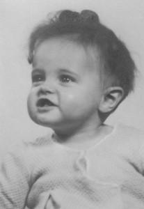 babyfoto in een fotofilm bij een persoonlijke afscheid